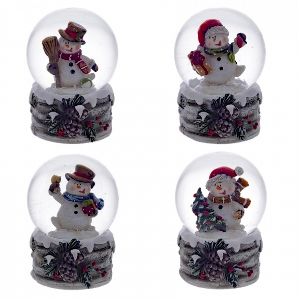 Стеклянный шар Снеговик