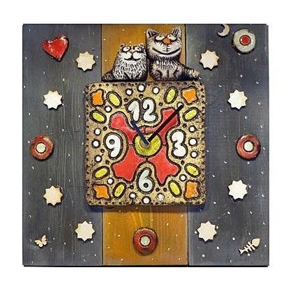 Настенные часы Два кота