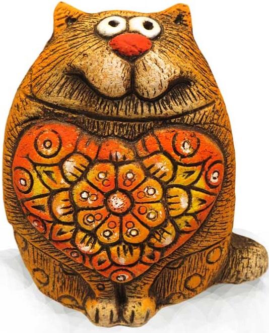 Кот Цветочное Сердце большой