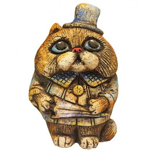 Кот Джентльмен с зонтом