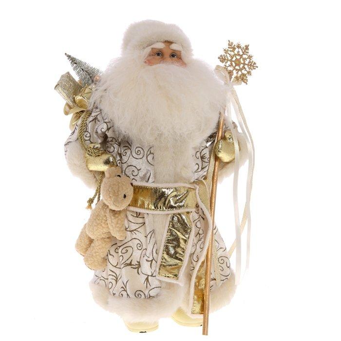 Дед Мороз в белой шубе