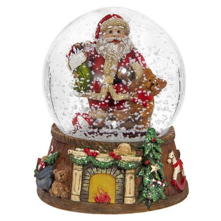 """Стеклянный шар """"Санта"""""""