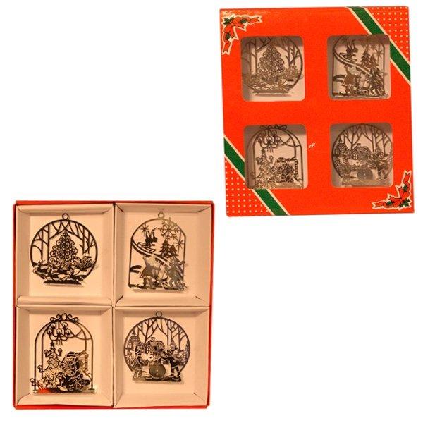 Набор ёлочных украшений (серебро)