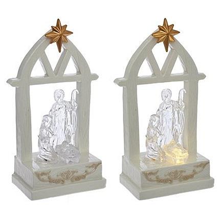 Рождественская композиция с подсветкой