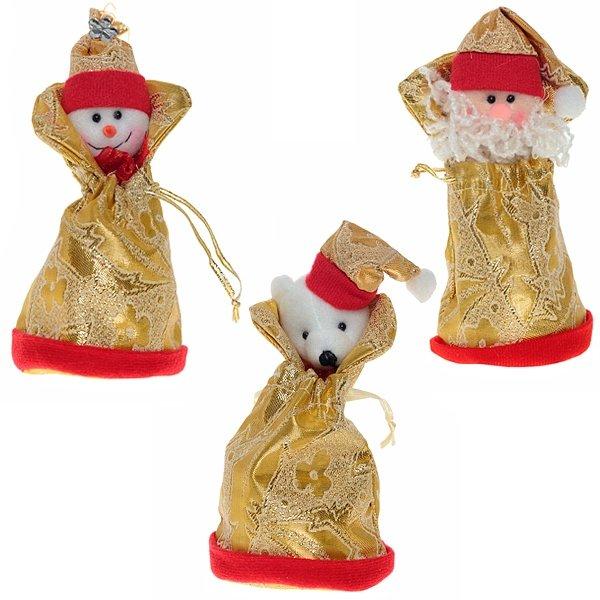 """Сумочка для подарков """"Снеговик/Дед Мороз/Медведь"""""""