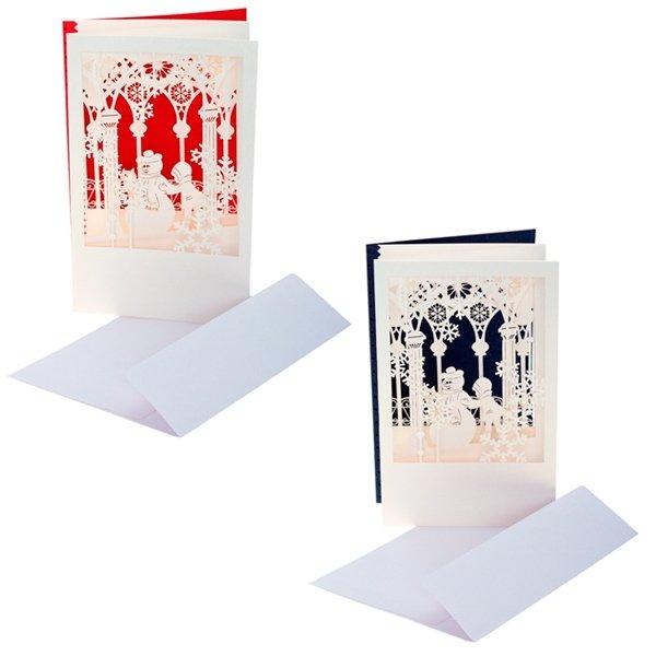 Новогодняя открытка в конверте, 2 вида