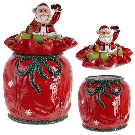 "Конфетница ""Дед Мороз на мешке с подарками"""