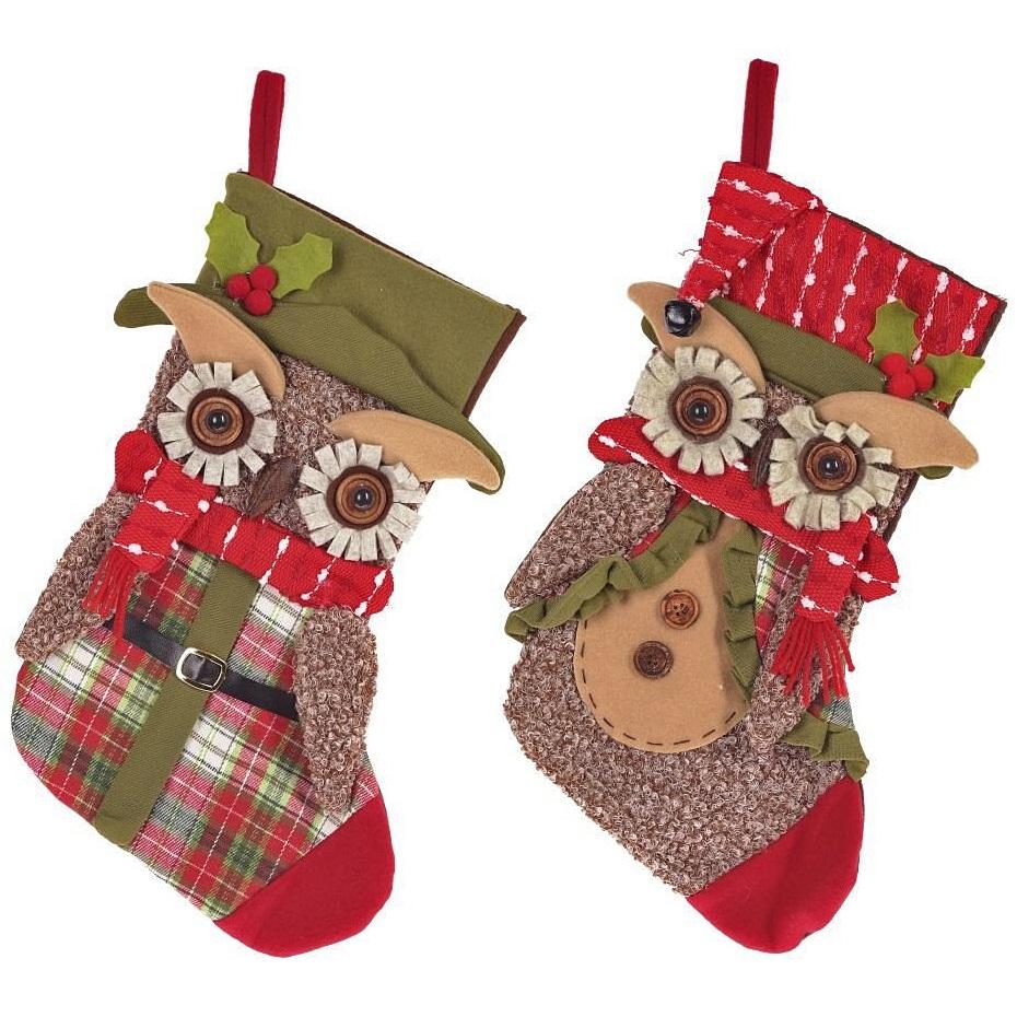 """Носок для подарков """"Сова"""", 2 вида"""