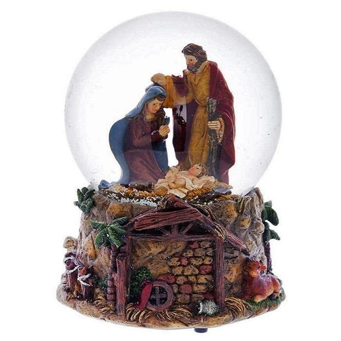 """Стеклянный шар """"Рождение Христа"""""""