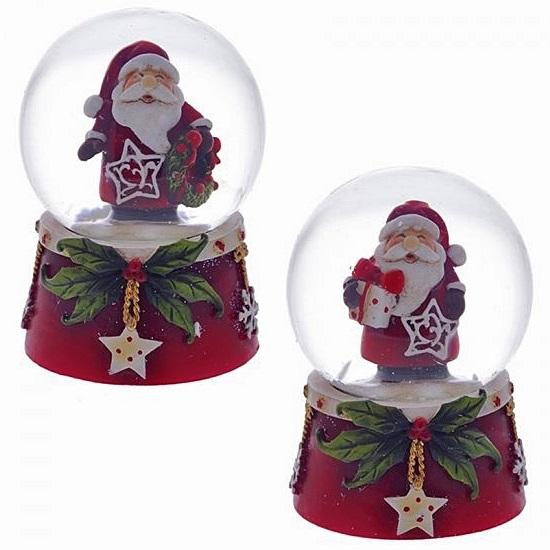 """Стеклянный водный шар """"Дед Мороз"""""""