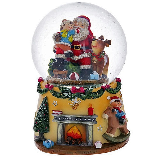 """Водяной шар с музыкой и генератором вьюги """"Дед Мороз"""""""