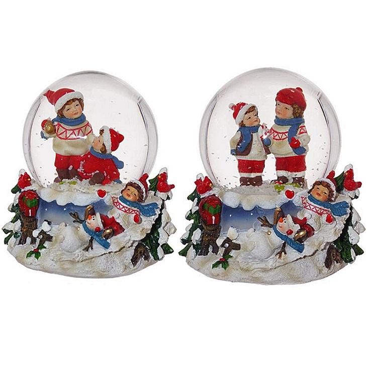"""Стеклянный снежный шар """"Дети"""""""