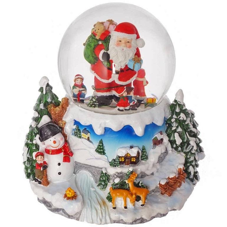 Стеклянный шар с подсветкой, музыкой и функцией движения