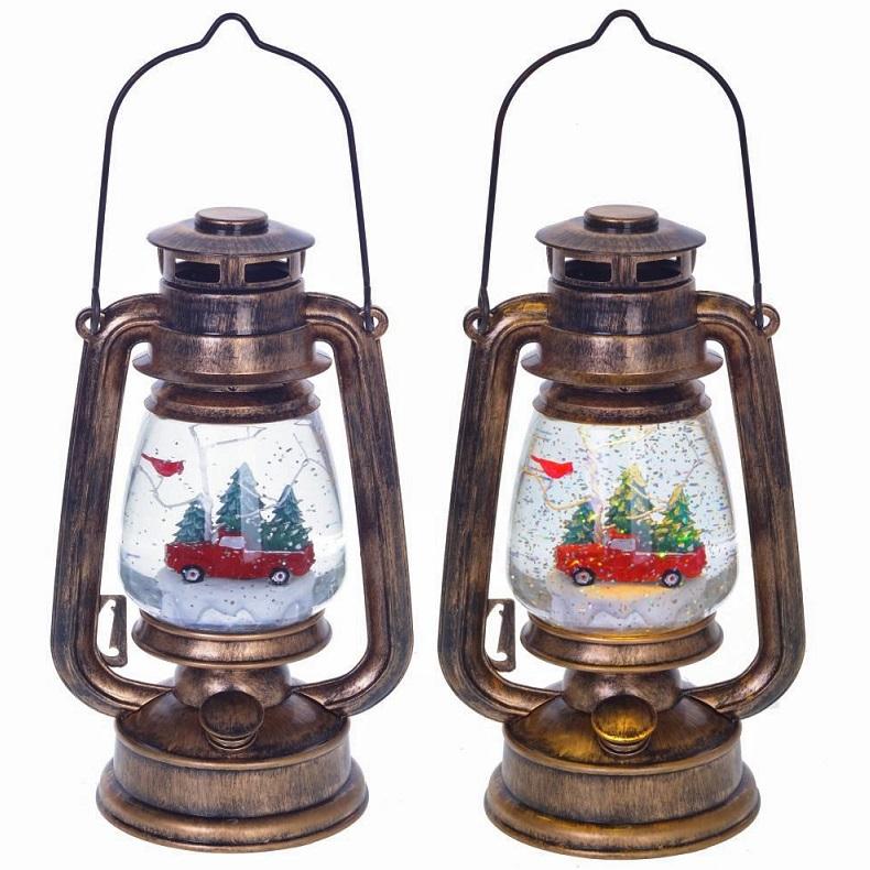 """Новогодний водяной шар с подсветкой и генератором вьюги """"Фонарь"""""""