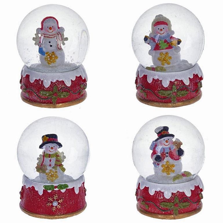 "Новогодний водяной шар  ""Снеговик"""