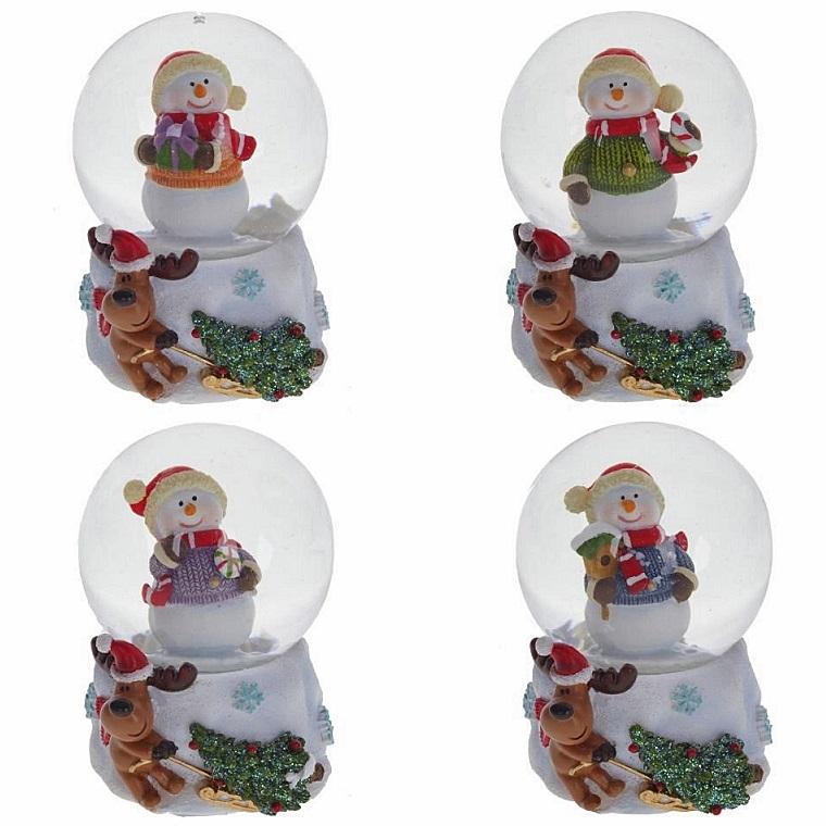 """Новогодний снежный шар """"Снеговик"""""""