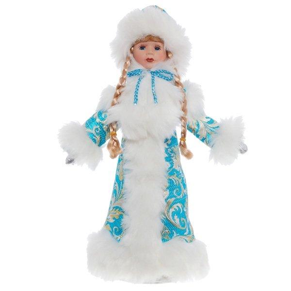 """Кукла с ёмкостью для конфет """"Снегурочка в бирюзовой шубе"""""""