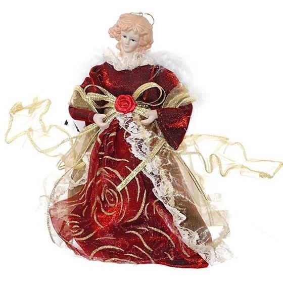 """Кукла подвесная """"Ангел в красном платье"""""""