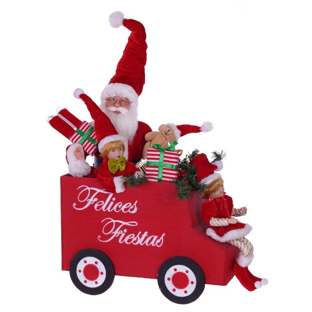 Санта с детьми в автомобиле, 73 см