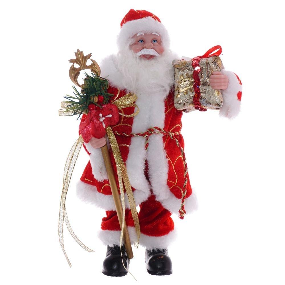 Дед Мороз с подарком, 31 см