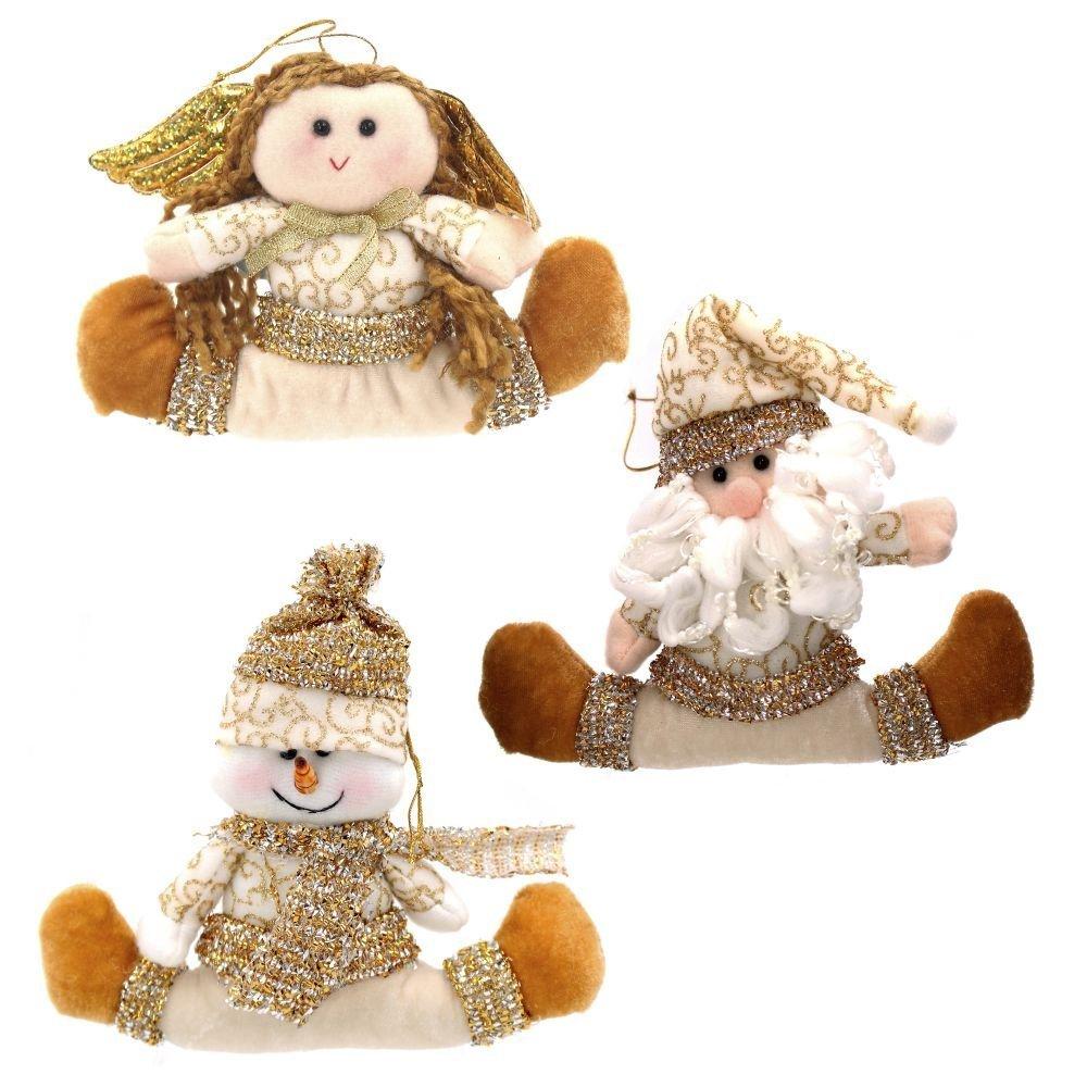 "Мягкая игрушка на ёлку ""Санта/Снеговик/Снегурочка"""