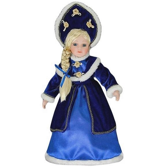 Снегурочка в синем платье большая