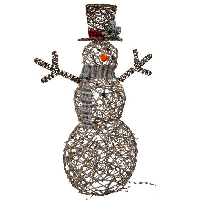"""Новогоднее украшение с подсветкой """"Снеговик"""" большой"""
