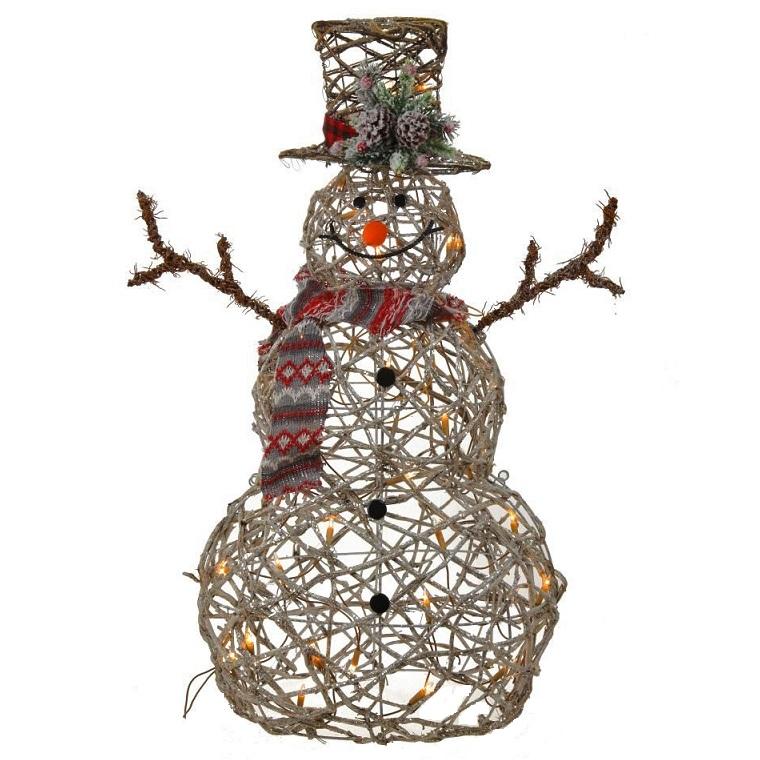 """Украшение новогоднее с подсветкой """"Снеговик"""""""