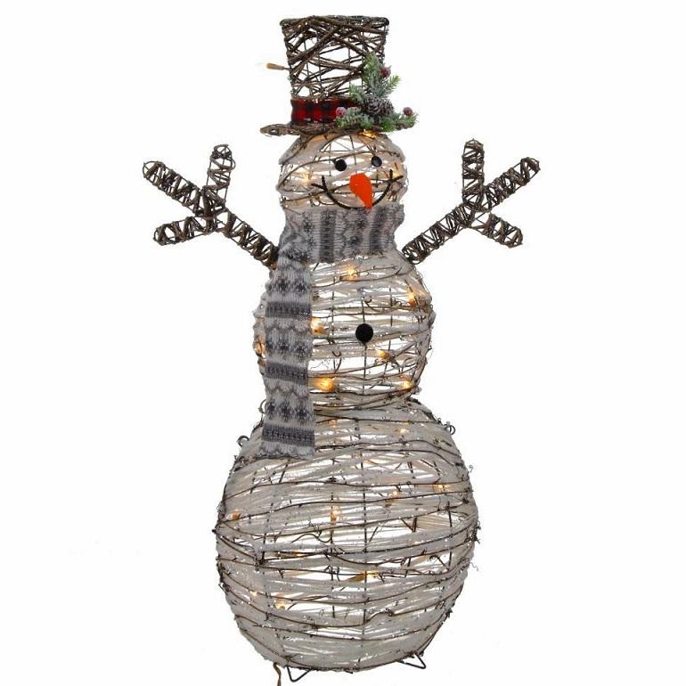 """Новогоднее украшение """"Снеговик с подсветкой"""""""