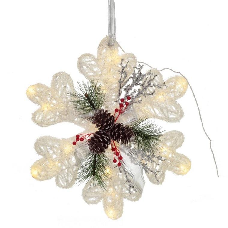 """Новогоднее украшение с подсветкой """"Снежинка"""""""