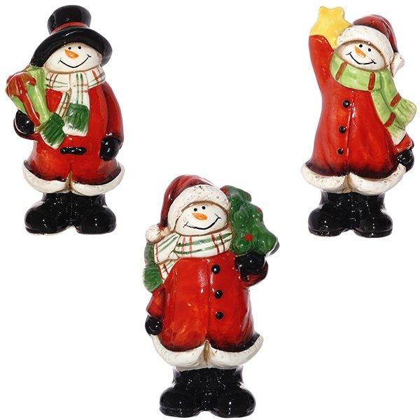 """Фигурка """"Снеговик в красном пальто"""""""