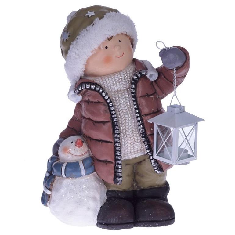 """Фигура """"Мальчик со снеговиком"""""""