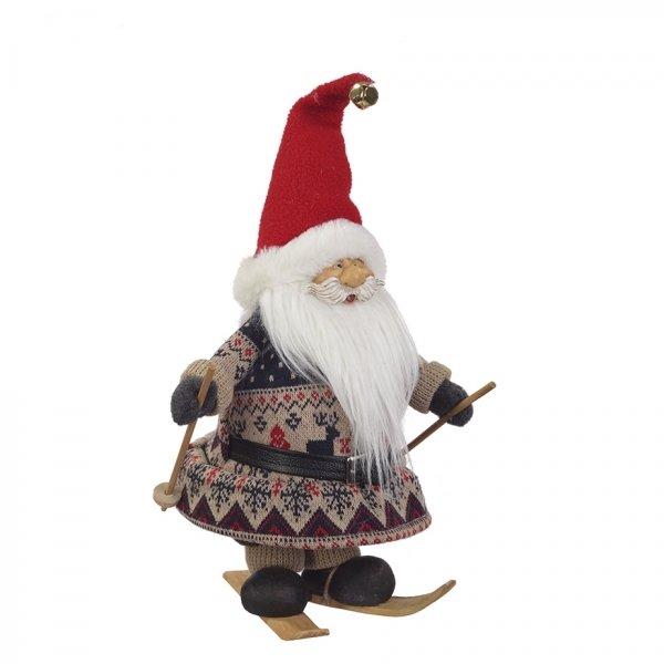 Санта Клаус на лыжах