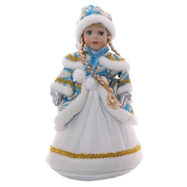 """Кукла с ёмкостью для конфет """"Снегурочка в белом платье"""""""