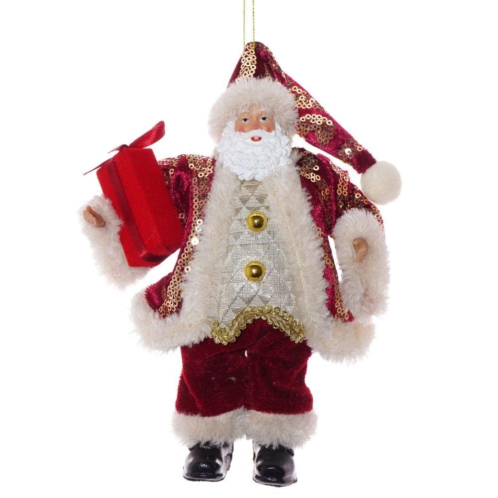 """Новогоднее украшение """"Санта в красной шубе"""""""
