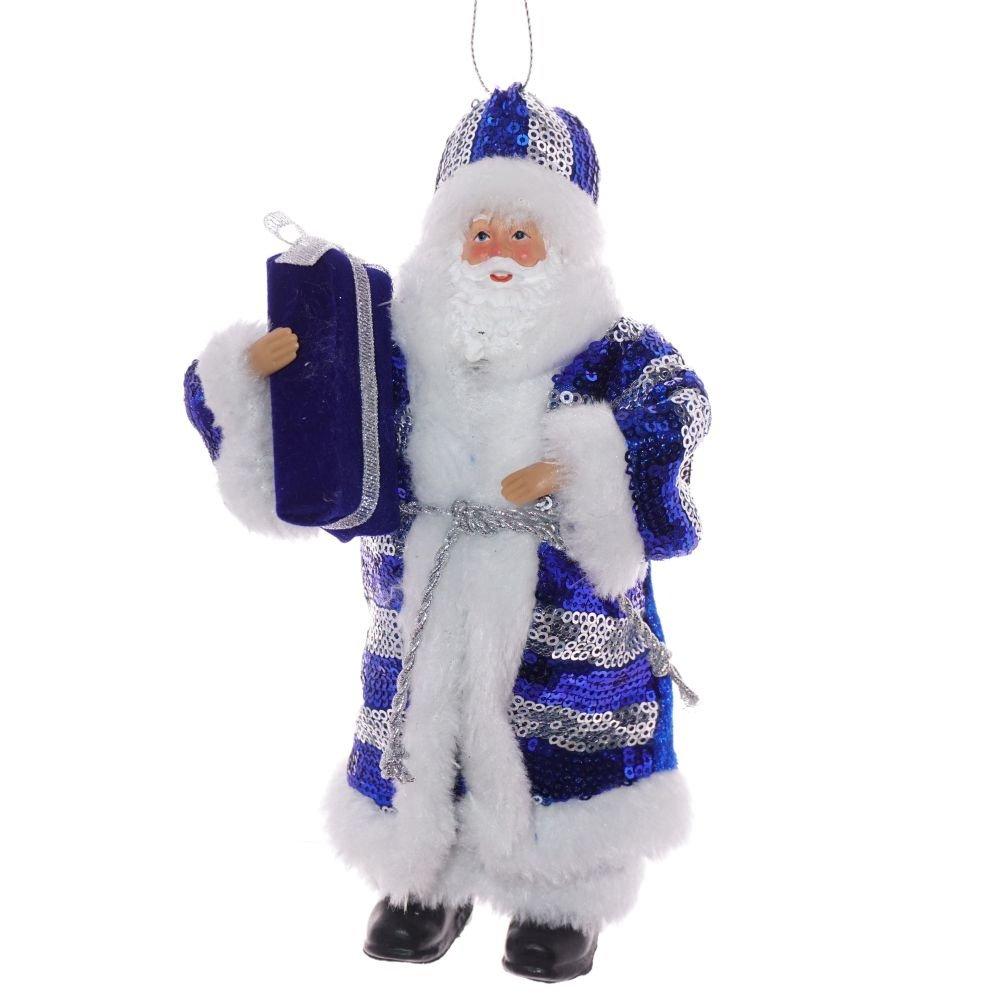"""Новогоднее украшение """"Дед Мороз в синей шубе"""""""