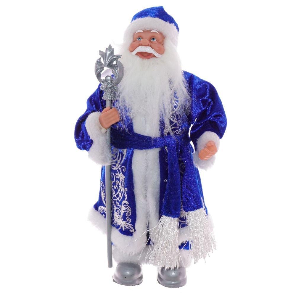 Дед Мороз в синей шубе, 31 см