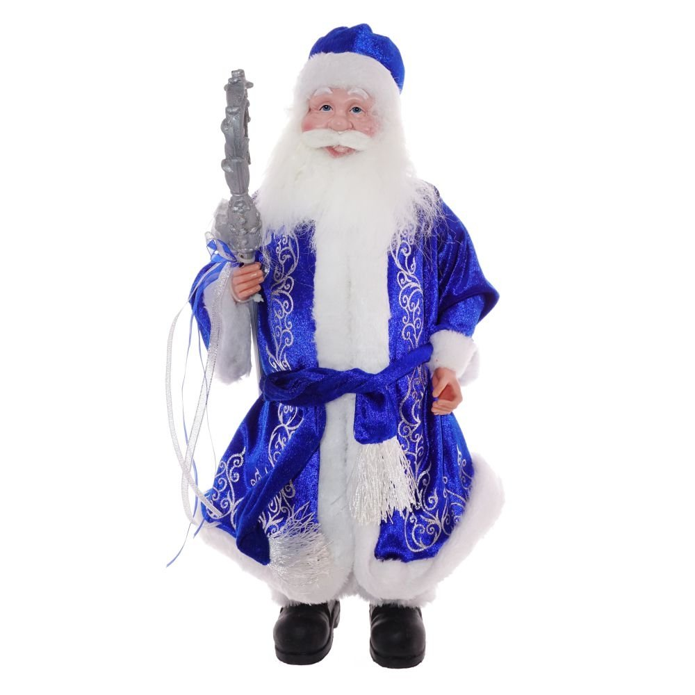 Дед Мороз в синей шубе, 48 см