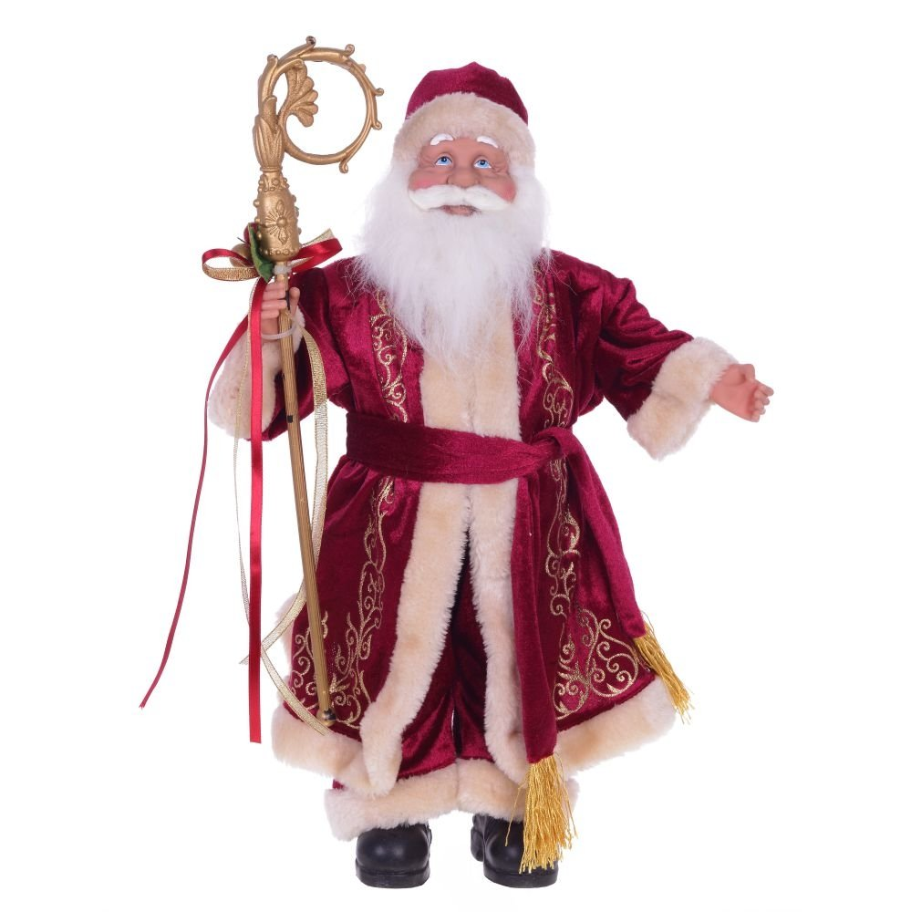 Дед Мороз в тёмно-красной шубе, 48 см