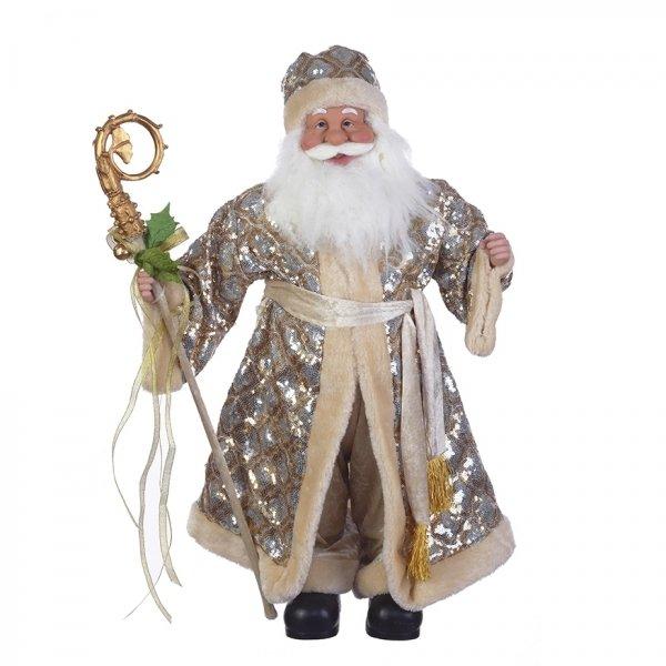 Дед Мороз в серебристой шубе, 61 см
