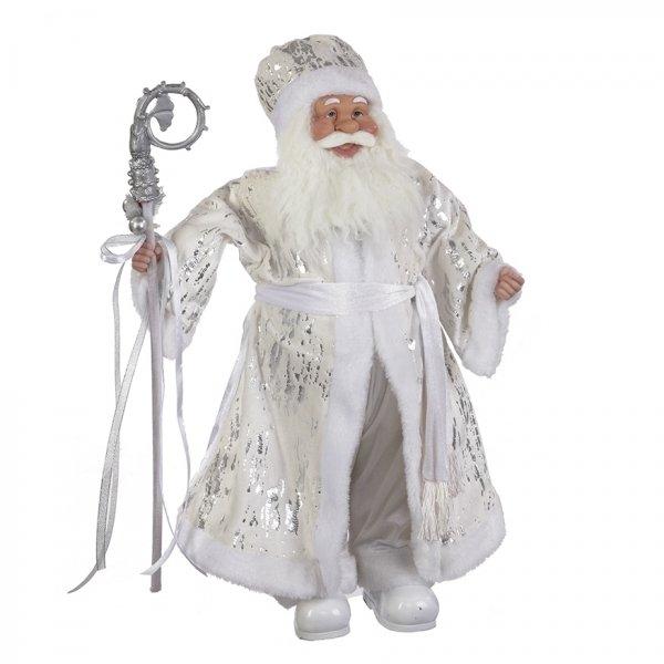 Дед Мороз в белой шубе, 61 см