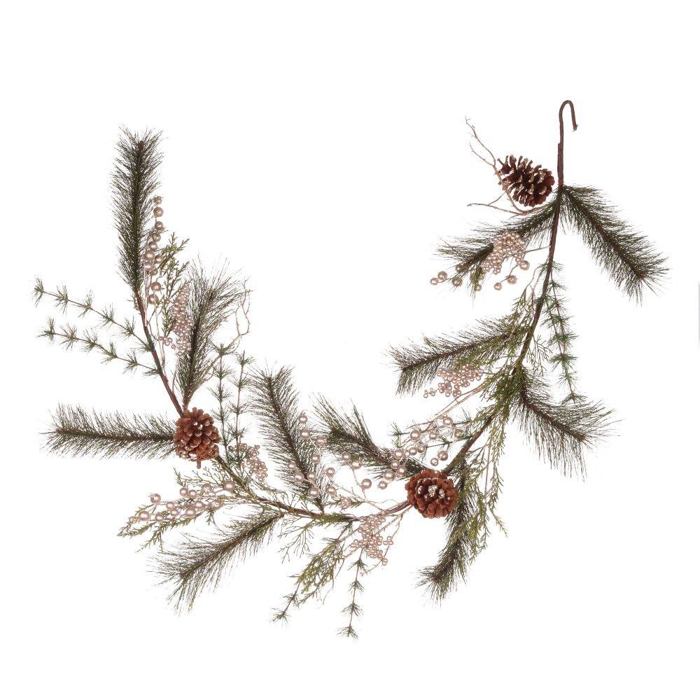 Новогодняя хвойная гирлянда с шишками, 150 см