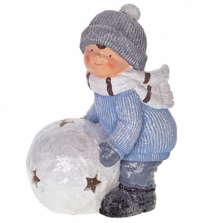 """Фигура """"Мальчик со снежным шаром"""""""