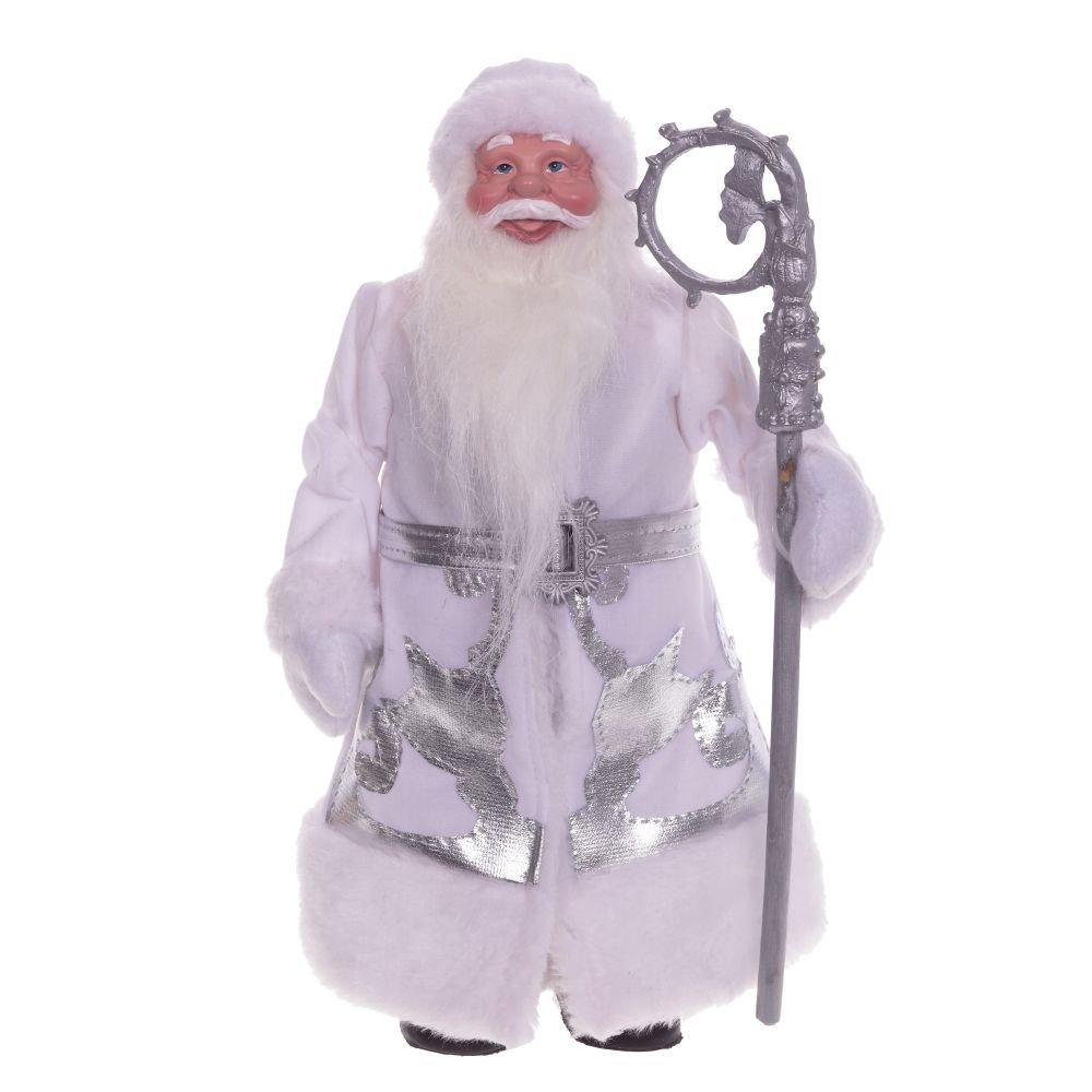 Дед Мороз в белой шубе, 31 см