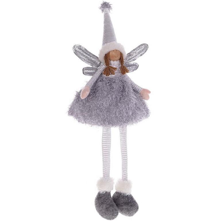 """Мягкая игрушка """"Фея в сером платье"""""""