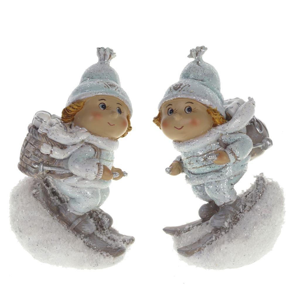 "Фигурка ""Дети на лыжах"", 2 вида"