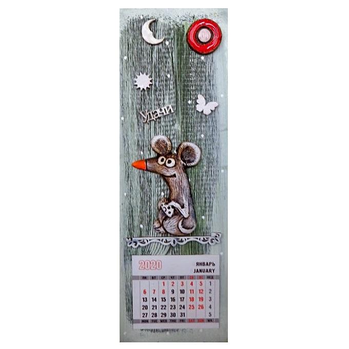 """Панно с календарём """"Мышка"""""""