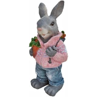 """Садовая фигура """"Заяц с морковкой"""""""