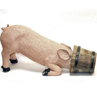 """Садовая фигура """"Свинья в кадке"""""""