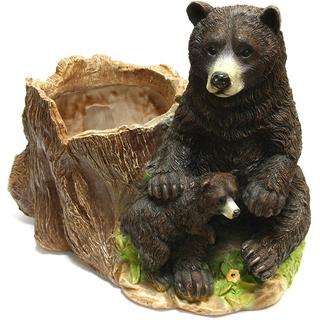 """Кашпо сувенир для дачи """"Медведи у пня"""""""